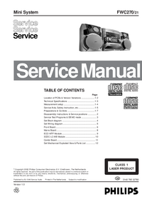 Manual de servicio Philips FWC270