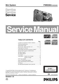 Service Manual Philips FWM390