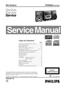 Manual de serviço Philips FWM399
