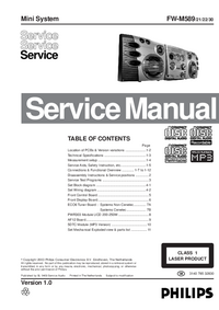 Manual de servicio Philips FW-M589