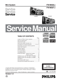 Service Manual Philips FW-M569