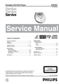 Service Manual Philips AX6301
