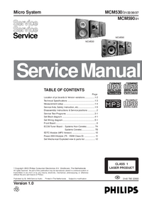 Service Manual Philips MCM530
