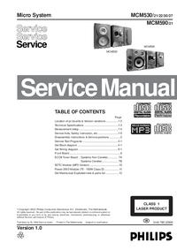 Руководство по техническому обслуживанию Philips MCM530