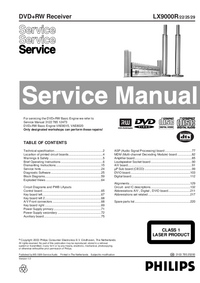 Manual de servicio Philips LX9000R