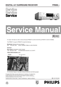 Manual de servicio Philips FR999
