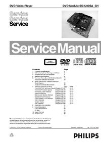 Руководство по техническому обслуживанию Philips SD-5.00SA_CH