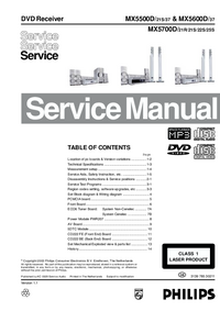 Service Manual Philips MX5500D