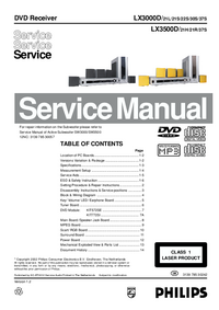 Manual de servicio Philips LX3000D