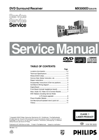 Manual de servicio Philips MX5000D