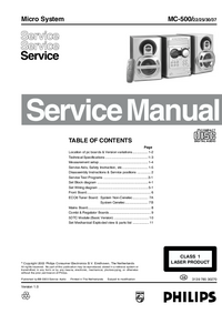 Manual de servicio Philips MC-500