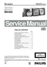 Service Manual Philips FW-C577