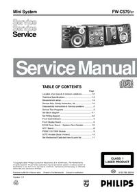 Manual de serviço Philips FW-C579