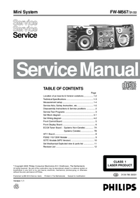 Manual de servicio Philips FW-M567
