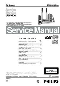Manual de servicio Philips LX8200SA