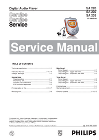 Service Manual Philips SA 230