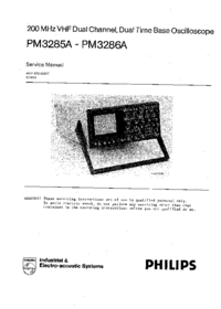 Manual de servicio Philips PM3285A