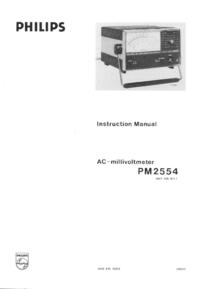 Serviço e Manual do Usuário Philips PM2554