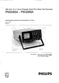 Manuale d'uso Philips PM3285A