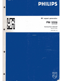 Service and User Manual Philips PM5326