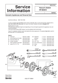 Manuale di servizio Supplemento Philips HR 6836/C