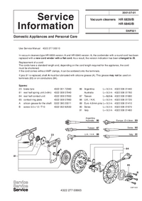 Manuale di servizio Supplemento Philips HR 6839/B
