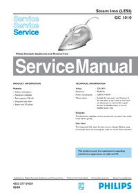 Service Manual Philips GC 1010