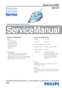 Manual de servicio Philips GC1015