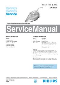 manuel de réparation Philips GC 1120