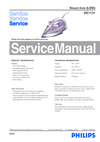 Service Manual Philips GC1121