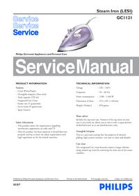 Instrukcja serwisowa Philips GC1121