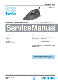 Service Manual Philips Diva GC 137