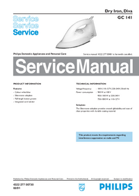 Service Manual Philips Diva GC 141