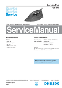 Service Manual Philips Diva GC 147