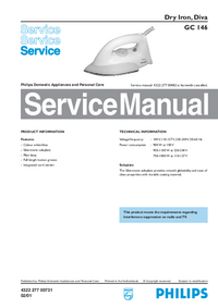 Service Manual Philips Diva GC 146