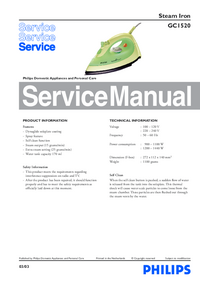 Manual de servicio Philips GC1520