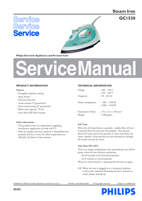 Service Manual Philips GC1530