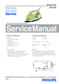 Service Manual Philips GC1565