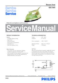 Serviceanleitung Philips GC1565