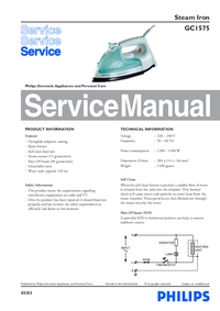 Manual de servicio Philips GC1575