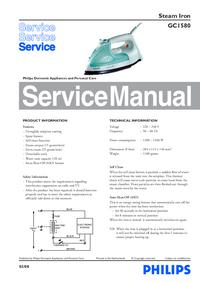 Руководство по техническому обслуживанию Philips GC1580
