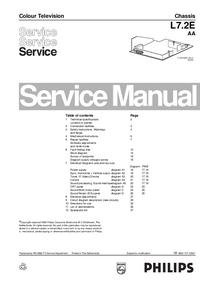 manuel de réparation Philips L7.2E