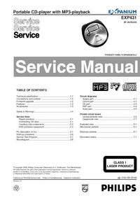 Manual de serviço Philips EXP431