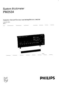 Servicio y Manual del usuario Philips PM2534