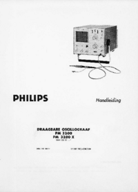 Manuale d'uso Philips PM3200 X
