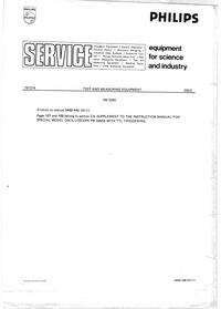 Manuale di servizio Supplemento Philips PM3265