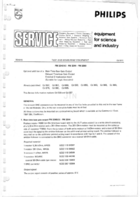 Service Manual Supplement Philips PM3240