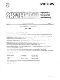 Manuale di servizio Supplemento Philips PM3261