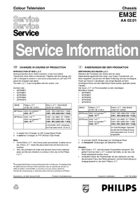 Service Manual Supplement Philips 28PW8807