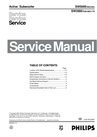 Service Manual Philips SW3500/02S